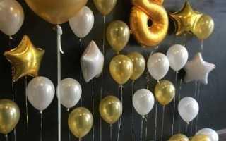 Как украсить шарами зал для Дня рождения