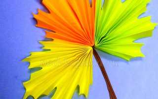 Осенние картинки из цветной бумаги