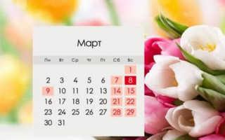 Через сколько дней будет 8 марта
