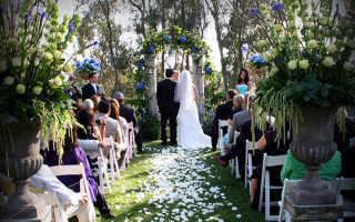 Оформление свадьбы в европейском стиле