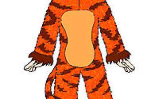 Костюм тигренка для мальчика своими руками