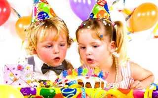 Детское меню на день рождения 2 года