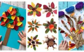 Подделка на тему осень из цветной бумаги