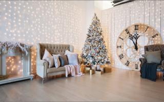 Новогодний фон для фотосессии в домашних условиях