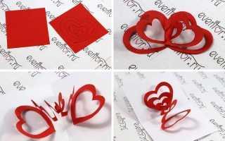Поделки из бумаги сердечки своими руками