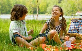 Детский пикник на природе меню