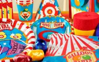 День рождения в стиле цирк оформление