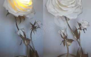 Ростовые цветы светильники из изолона купить