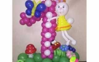 Стильное оформление шарами