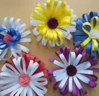 Цветы из бумаги для детского сада