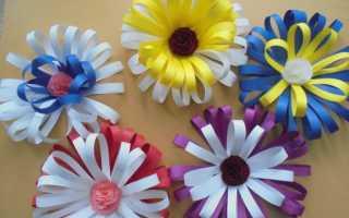 Цветок из бумаги в детском саду