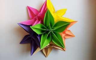 Декор стены цветами из бумаги