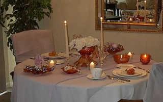 Меню для ужина при свечах