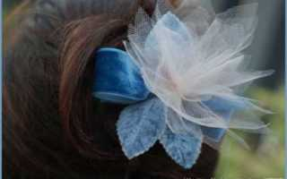 Цветок из фатина на голову