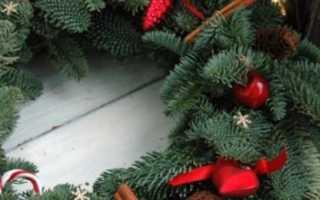 Рождественский венок своими руками из веток