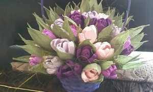 Какие можно сделать цветы из гофрированной бумаги