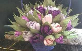 Мастер класс цветы из гофры