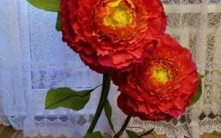 Цветы гиганты из гофрированной